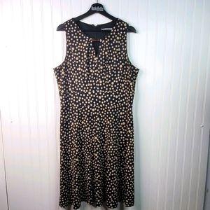 Liz Claiborne Sleeveless Polka-dot Dress Stretch